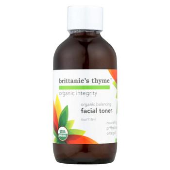 Brittanie's Thyme - Organic Toner - Balancing - 4 Oz.