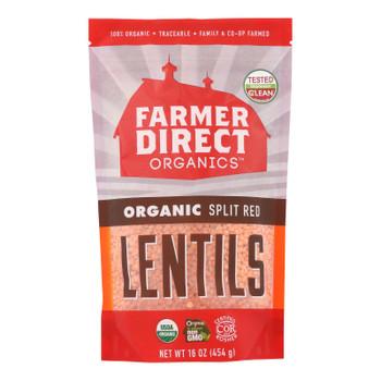 Farmer Direct Co-op - Lentils Split Red - Case Of 12 - 1 Lb