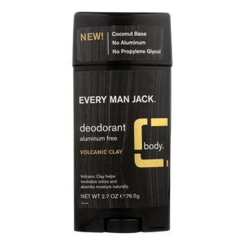 Every Man Jack - Deodorant Volcanic Clay - 1 Each - 2.7 Oz