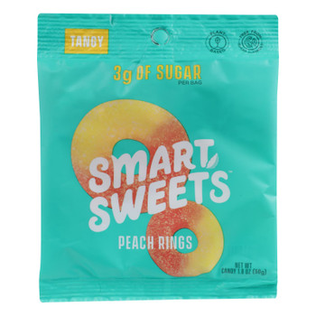 Smartsweets - Gummy Peach Rings - Case Of 12 - 1.8 Oz