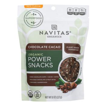Navitas Organics - Powr Snac Chocolate Cacao - Case Of 12 - 8 Oz