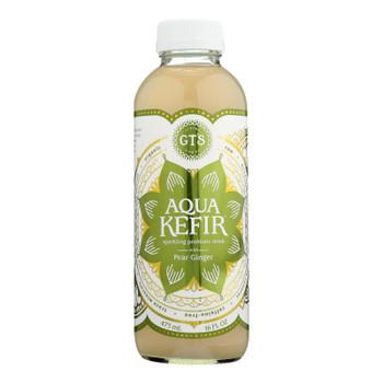 Gts Kombucha - Aqua Kefir Pear Ginger - Case Of 12 - 16 Fz