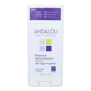 Andalou Naturals - Deodorant Vgn Pro Lavender Thyme - 1 Each - 2.65 Oz