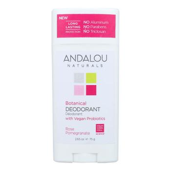 Andalou Naturals - Deodorant Vgn Pro Rose Pomegranate - 1 Each - 2.65 Oz
