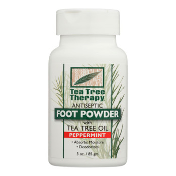 Tea Tree Therapy - Foot Powder Peppermint - 1 Each - 3 Oz