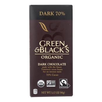 Green & Black's - Chocolate Dark 70% - Case Of 10 - 3.17 Oz