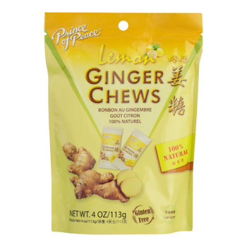 Prince Of Peace - Chews Ginger Lemon - 1 Each - 4 Oz