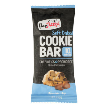 Flapjacked - Bar Chocolate Chip Cookie - Case Of 12 - 1.9 Oz