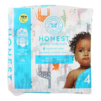The Honest Company - Dpr Mlt Color Giraffe Sz4 - 1 Each - 23 Ct