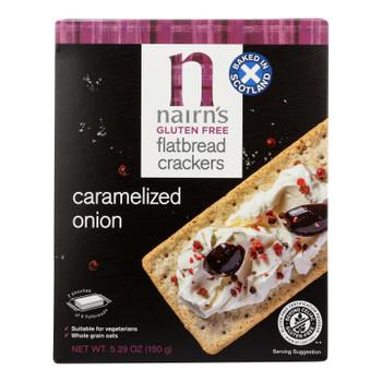 Nairn's - Flatbrd Carmlzd Onion Gluten Free - Case Of 6 - 5.29 Oz
