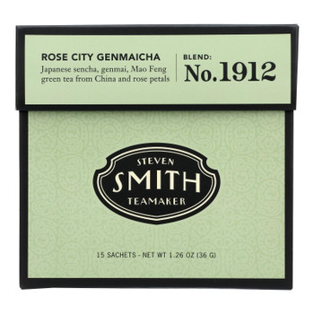 Smith Teamaker - Tea Green Rose City - Case Of 6 - 15 Bag