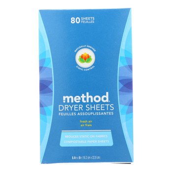 Method Products Inc - Dryer Sheet Fresh Air - Case Of 6 - 80 Ct
