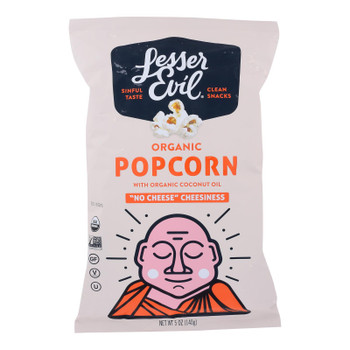 Lesser Evil - Popcorn No Chs Chsiness - Case Of 12 - 5 Oz