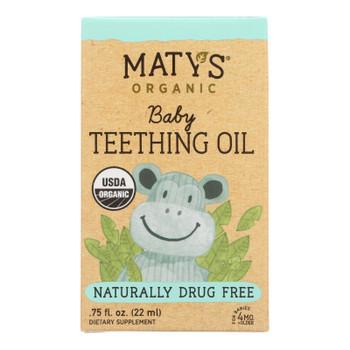 Maty's - Baby Teething Oil - Case Of 4 - .75 Fz