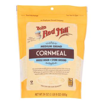 Bob's Red Mill - Cornmeal Medium - Case Of 4 - 24 Oz