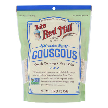 Bob's Red Mill - Couscous Pearl Tri Color - Case Of 4 - 16 Oz