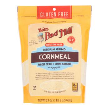 Bob's Red Mill - Cornmeal Gluten Free - Case Of 4 - 24 Oz