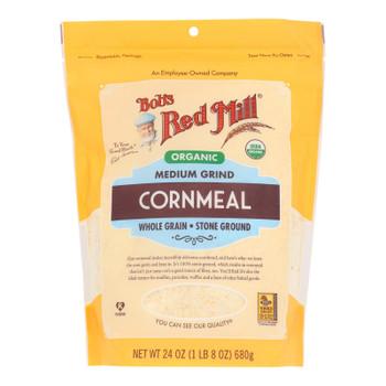 Bob's Red Mill - Cornmeal Medium - Case Of 4 - 24 Oz - 2486579