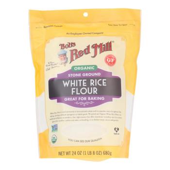 Bob's Red Mill - Flour White Rice - Case Of 4 - 24 Oz