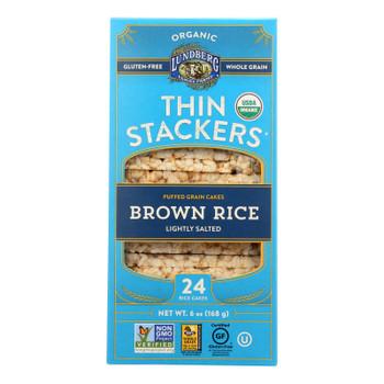Lundberg Family Farms - Rice Ck Brn Ls Thn Stk - Case Of 6-6 Oz