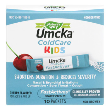 Nature's Way - Umcka Fastactives Children's Cherry Coldcare - 1 Each - 10 Pk