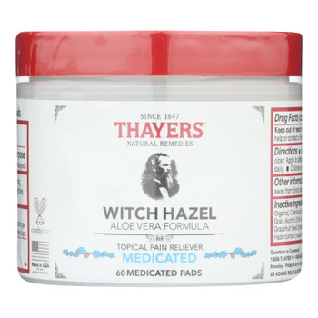 Thayer's Natural Remedies Superhazel Topical Pain Reliever Pads  - 1 Each - 60 Pads