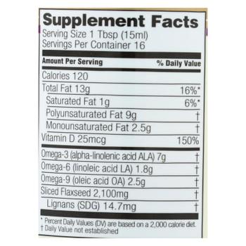 Spectrum Essentials - Flax Oil Ult Lignans - 1 Each - 8 Fz
