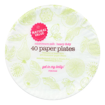 Natural Value - Paper Plates Recyc - Case Of 24 - 40 Ct