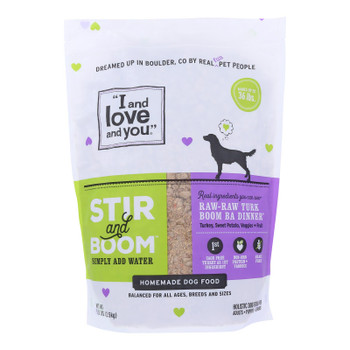 I And Love And You Raw Raw Turk Boom Ba Dinner Recipe Dry Dog Food Dog Food  - Case Of 3 - 5.5 Lb