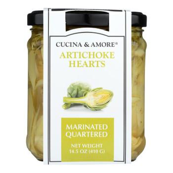 Cucina & Amore - Artichoke Qrtrs Marinate - Case Of 6 - 14.5 Oz
