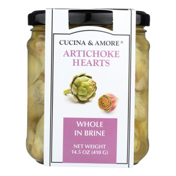 Cucina & Amore - Artichokes Whole In Brine - Case Of 6 - 14.5 Oz