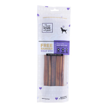 I And Love And You's Free Ranger Bully Stix Dog Chews  - Case Of 6 - 5 Ct
