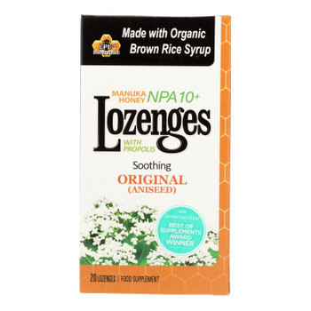 Pacific Resources Int. Manuka Honey Npa 10+ Lozenges With Propolis Food Supplement - 1 Each - 20 Ct