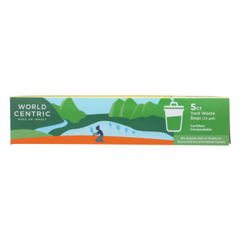 World Centric - Bags Compostable 33 Gal - Case Of 12 - 5 Ct