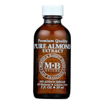 Morton And Bassett Premium Quality Pure Almond Extract - Case Of 3 - 2 Fz