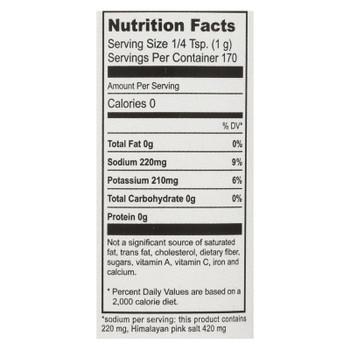 Natierra Himalania Fine Pink Salt Mix Reduced Sodium  - Case Of 6 - 6 Oz