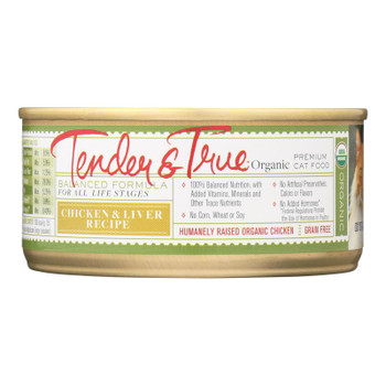 Tender & True Cat Food, Chicken And Liver - Case Of 24 - 5.5 Oz