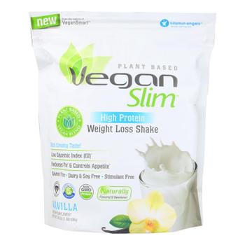 Veganslim Vanilla High Protein Weight Loss Shake Dietary Supplement  - 1 Each - 24.2 Oz