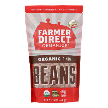 Farmer Direct Co-op, Organic Pinto Beans - Case Of 12 - 1 Lb