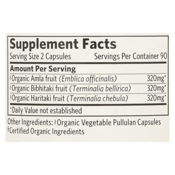 Organic India Triphala, Digestion & Colon Cleanse  - 1 Each - 180 Vcap