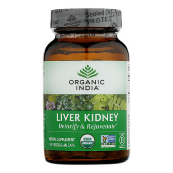 Organic India Usa Whole Herb Supplement, Liver Kidney  - 1 Each - 90 Vcap