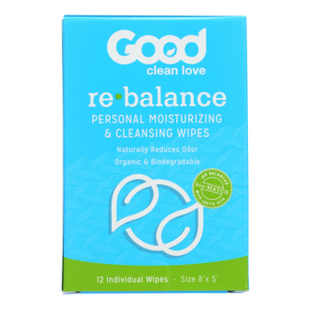 Good Clean Love Rebalance Personal Moisturizing & Cleansing Wipes  - 1 Each - 12 Ct