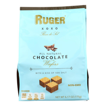 Ruger - Chocolate Wafer Salted Bite Size - Case Of 6 - 6.17 Oz