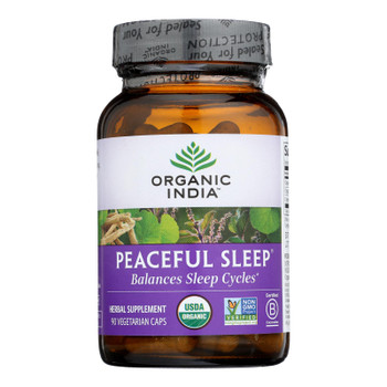 Organic India Whole Herb Supplement, Peaceful Sleep  - 1 Each - 90 Vcap