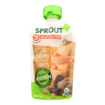 Sprout Foods Inc - Baby Food Btrnut Chckpea - Case Of 6 - 4 Oz