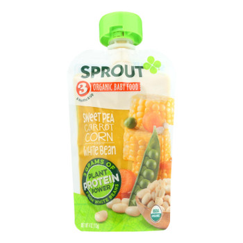 Sprout Foods Inc - Baby Fd.og2 Sweet Pea Carrot - Case Of 6 - 4 Oz
