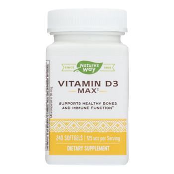 Nature's Way Vitamin D3 5,000 Iu Dietary Supplement  - 1 Each - 240 Ct