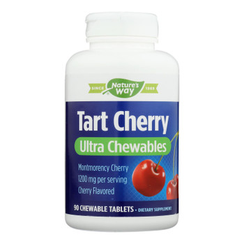 Enzymatic Therapy Tart Cherry Ultra Chewables Dietary Supplements  - 1 Each - 90 Tab