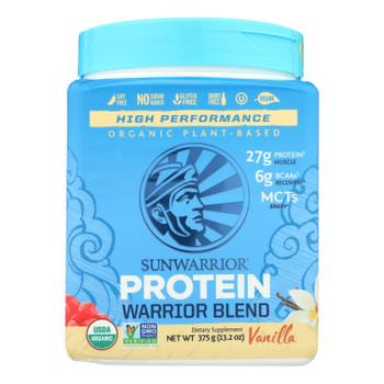 Sunwarrior Warrior Vanilla Blend Pea, Hemp Seed & Goji Berry Blended Protein  - 1 Each - 375 Grm