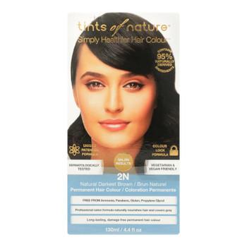 Tints Of Nature 2n Darkest Brown Hair Color  - 1 Each - 4.4 Fz